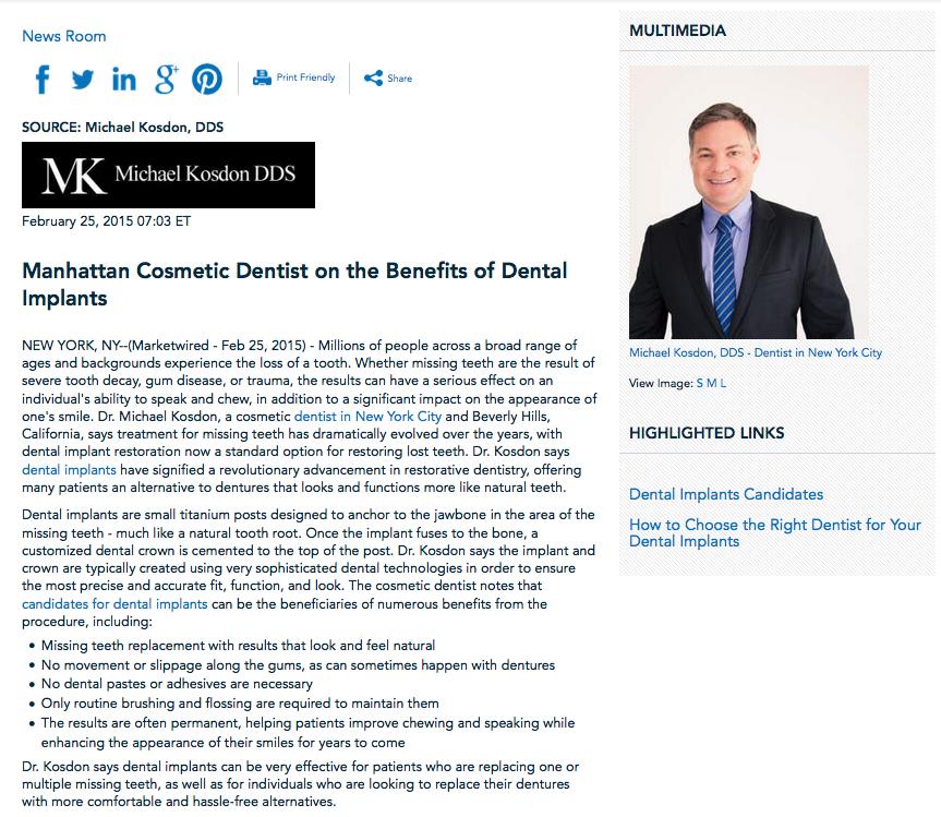 cosmetic,dentist,manhattan,new york city,dental implants,candidates,restoration,dr michael kosdon