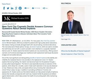 Dr. Michael Kosdon answers questions about dental implants