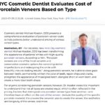 Dr. Michael Kosdon discusses porcelain veneers cost and presents a detailed pricing comparison chart for patients considering the procedure.